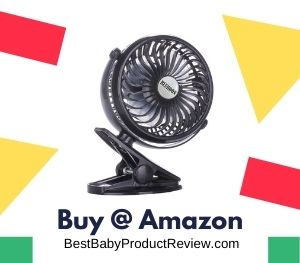 Bluboon Clip-on Fan, safe fan for children