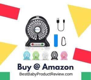 Dizaul Portable Fan, infant safe fan