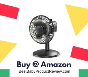 Mini Portable Table Fan 360 Rotation for Baby Bed
