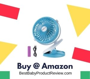 Stroller Fan Portable Mini Desk Fan Rechargeable