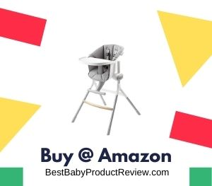 BEABA Adjustable High Chair, Height Adjustable Baby High Chair with Six Height Settings