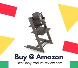 Tripp Trapp by Stokke Adjustable Wooden Hazy Grey Baby High Chair